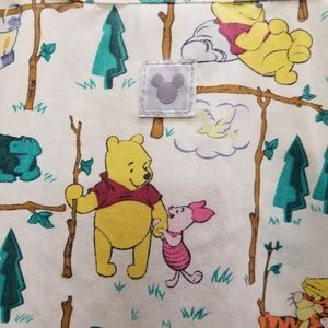 Button Up Whinnie The Pooh Scrubs 2 front pockets
